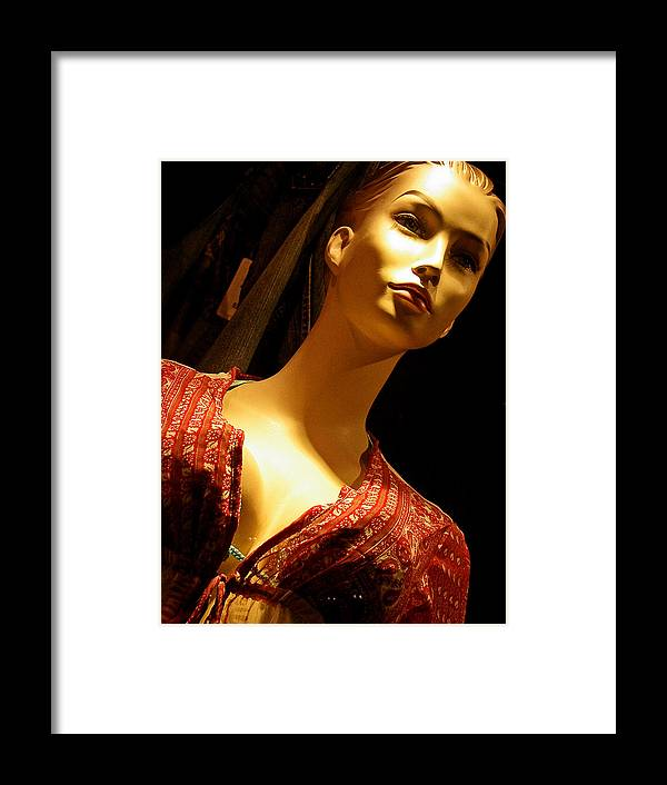 Mannequins Framed Print featuring the photograph Curiosity Killed The Cat by Elizabeth Hoskinson