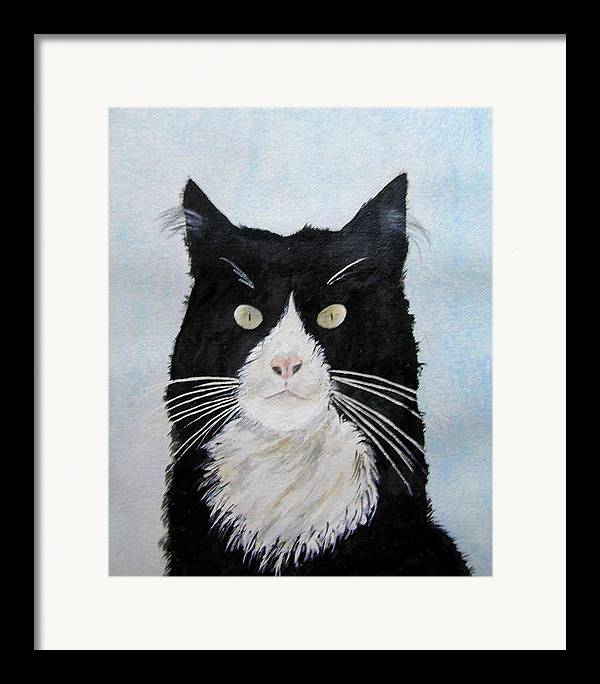 Sometimes They Look At You And You Just Know They Know It All All Along Framed Print featuring the painting Curiosity by Wilfred McOstrich