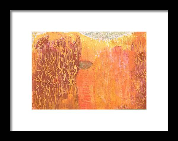 Curious Framed Print featuring the mixed media Curious Cove by Anne-Elizabeth Whiteway