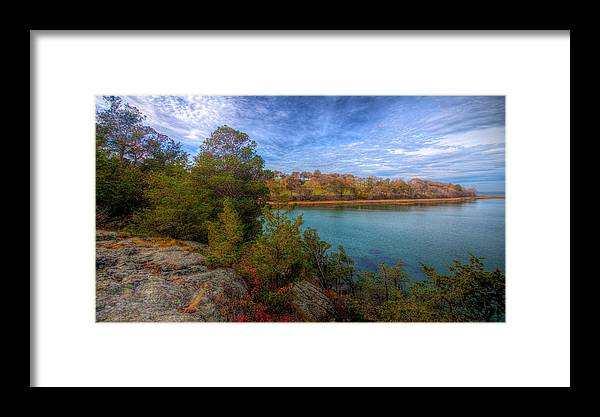 New England Framed Print featuring the photograph Curve At The End by David Henningsen