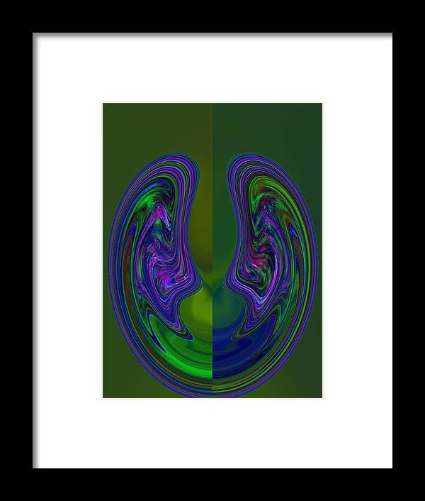 Digital Framed Print featuring the photograph Curve Evolution 3 by Sue Duda