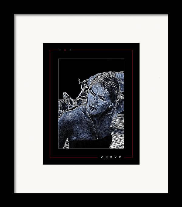 Curve Framed Print featuring the photograph Curve by Jonathan Ellis Keys