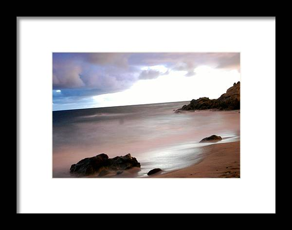 Ocean Framed Print featuring the photograph Curve Of The Horizon by Stephanie Haertling
