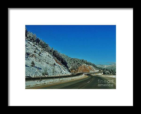Winter Framed Print featuring the photograph Curves Ahead by CL Redding