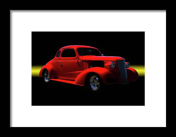 Chevy Framed Print featuring the photograph Curves In Red by Larry Helms