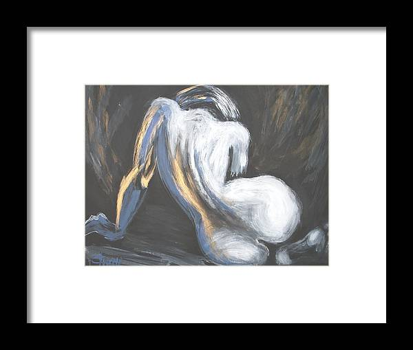 Curves18 Framed Print featuring the painting Curves18 by Carmen Tyrrell