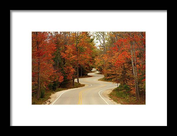 3scape Framed Print featuring the photograph Curvy Fall by Adam Romanowicz