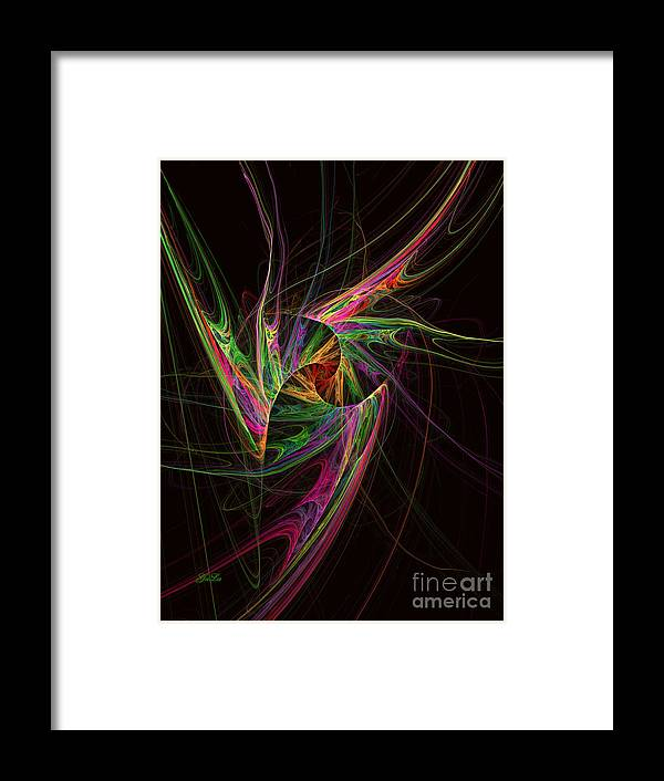 Abstract Framed Print featuring the digital art Custodian Of Desires by Galina Lavrova