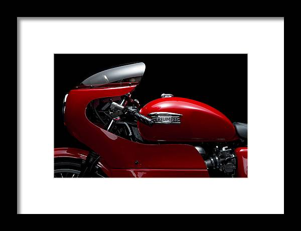 Triumph Framed Print featuring the photograph Custom Thruxton by Keith May