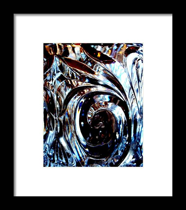 Photography Framed Print featuring the photograph Cut Glass by Laura Grisham
