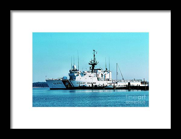 Us Coast Guard Framed Print featuring the photograph Cutter Tampa by Thomas R Fletcher