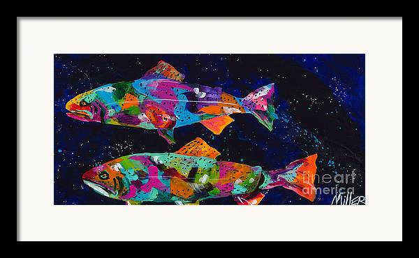 Tracy Miller Framed Print featuring the painting Cutthroats by Tracy Miller