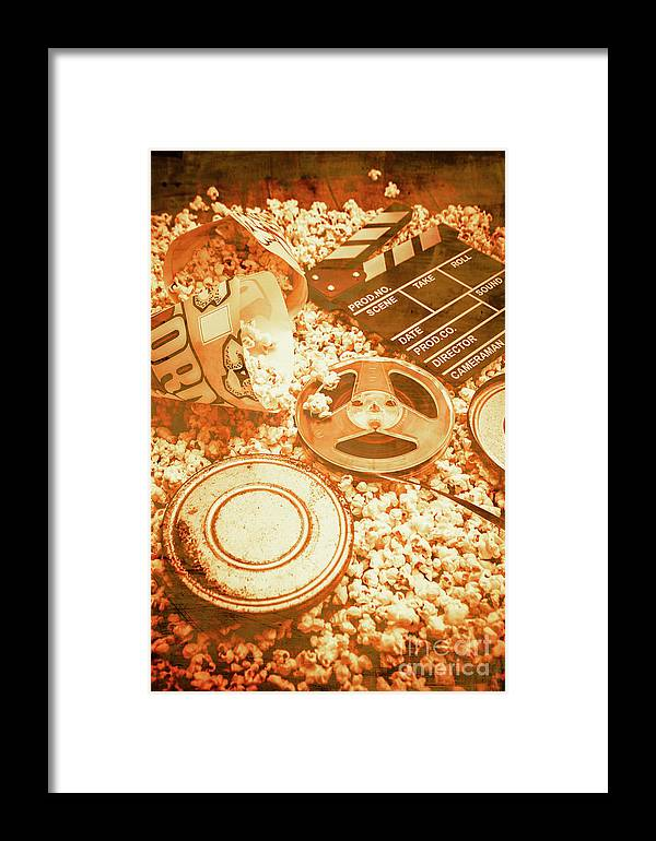 Vintage Framed Print featuring the photograph Cutting A Scene Of Vintage Film by Jorgo Photography - Wall Art Gallery