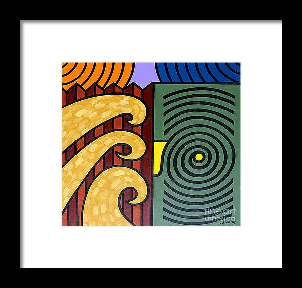 Abstract Framed Print featuring the painting Cycle Of Nature by Patrick J Murphy