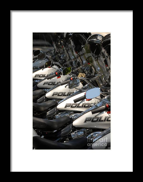 Motorcycle Framed Print featuring the photograph Cycles by Dennis Hammer