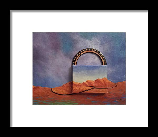 Clouds Mountains Meridian Framed Print featuring the painting Cyclic Existence by Beth Waltz