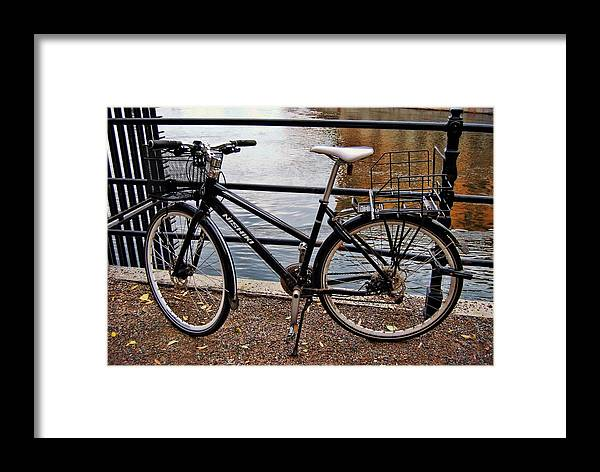 Sweden Framed Print featuring the photograph Cycling In Sweden by JAMART Photography