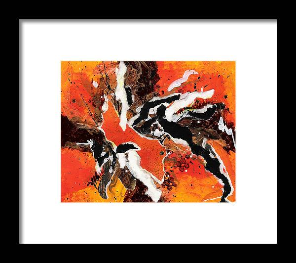 Abstract Framed Print featuring the painting CYHM Orange by Tara Milliken