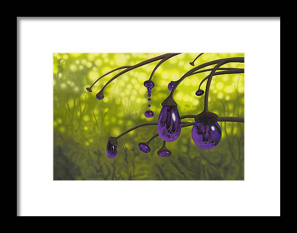 Tree Framed Print featuring the painting Cyphomandra Vitra by Patricia Van Lubeck