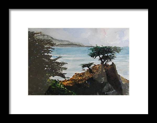 Coastal Pine Framed Print featuring the painting Cypress by Dwight Williams