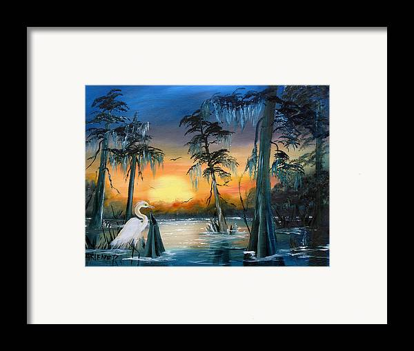 Swamp Framed Print featuring the painting Cypress Swamp by Darlene Green