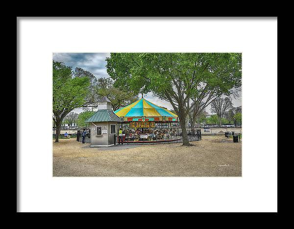 Dc Framed Print featuring the photograph D C Carousel _ Hdr by Michael Rankin