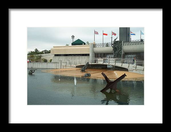 Bedford Framed Print featuring the photograph D Day Memorial by Eddie Armstrong