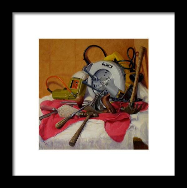 Realism Framed Print featuring the painting D. I. Y. 1 by Donelli DiMaria