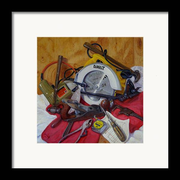 Realism Framed Print featuring the painting D. I. Y. 2  by Donelli DiMaria