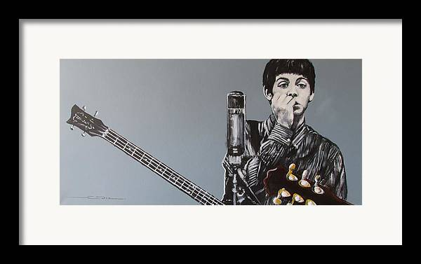 Paul Mccartney Framed Print featuring the painting D-note by Eric Dee