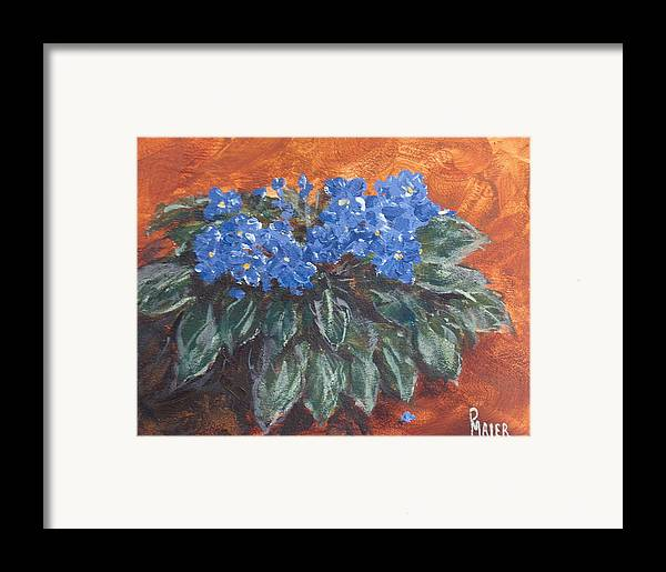 Violets Framed Print featuring the painting D Violets by Pete Maier