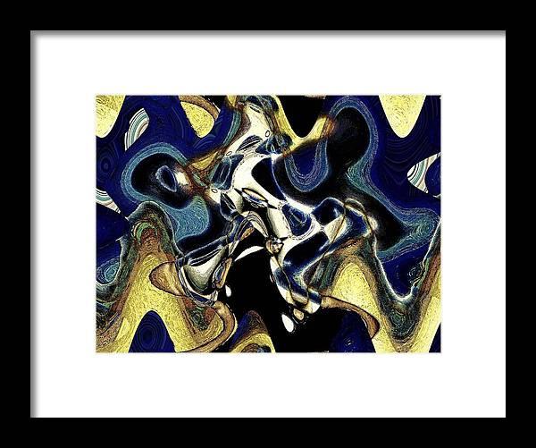 Abstract Framed Print featuring the photograph Da Blues by LeeAnn Alexander