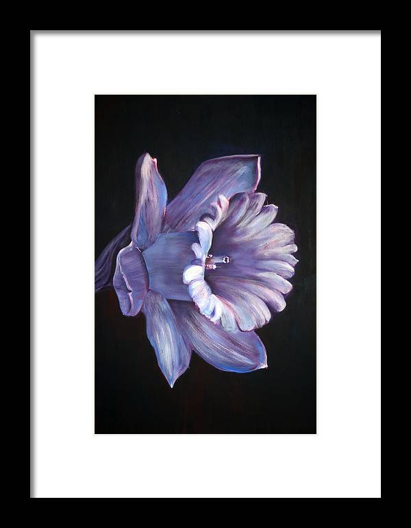 Flower Framed Print featuring the painting Daffodil by Fiona Jack
