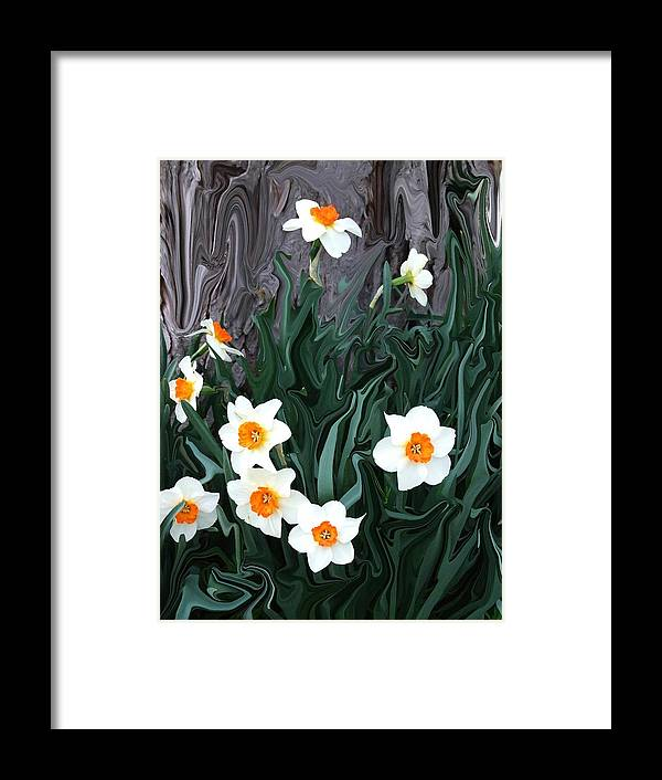 Flower Framed Print featuring the photograph Daffodills by Jim Darnall
