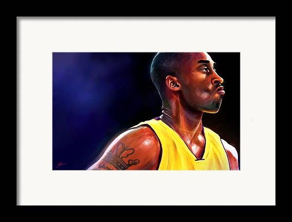 Kobe Framed Print featuring the digital art Daggers by Jack Perkins