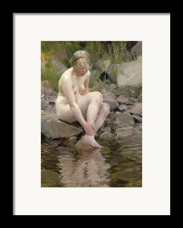 Dagmar Framed Print featuring the painting Dagmar by Anders Leonard Zorn