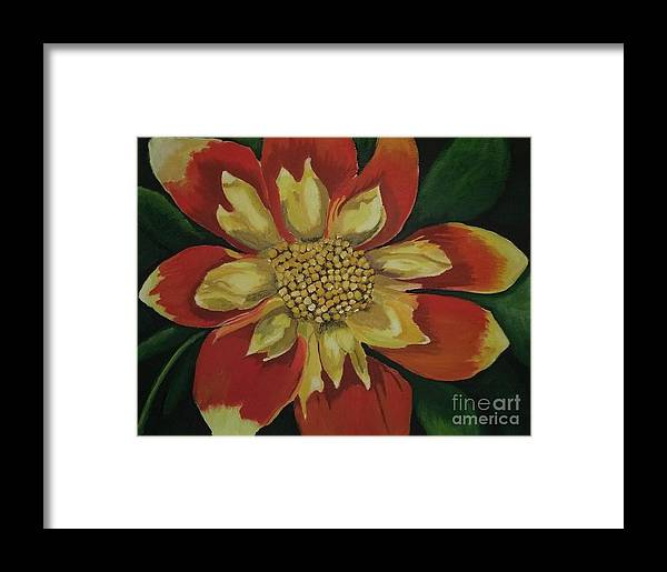 Summer Flower Framed Print featuring the painting Dahlia by Rebecca Jackson