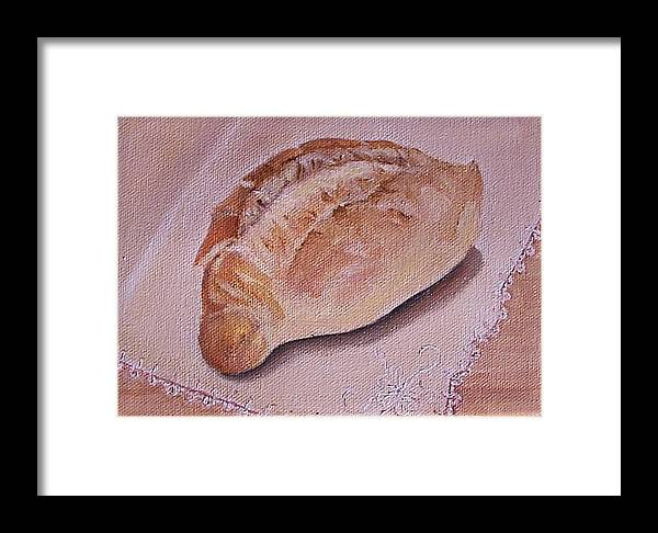Still Life Framed Print featuring the painting Daily Bread by Irene Corey