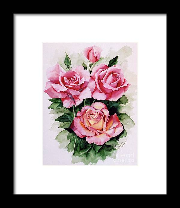 Roses Framed Print featuring the painting Dainty Ladies by Suzanne Schaefer