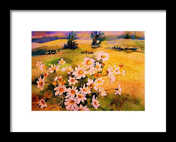 Daisies Framed Print featuring the painting Daisies In The Sun by Carole Spandau