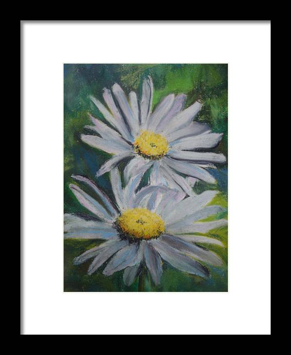 Daisies Framed Print featuring the painting Daisies by Melinda Etzold