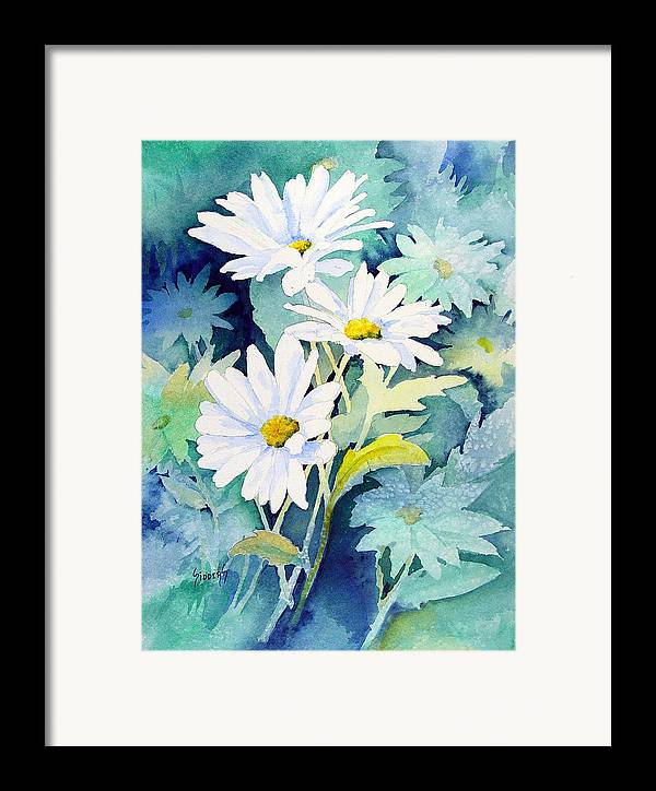 Flowers Framed Print featuring the painting Daisies by Sam Sidders