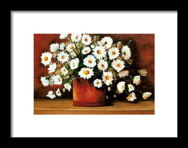 Daisies Framed Print featuring the painting Daisy Doodle Sold by Susan Dehlinger