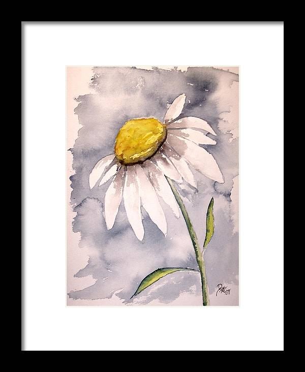 Daisy Framed Print featuring the painting Daisy Modern Poster Print Fine Art by Derek Mccrea