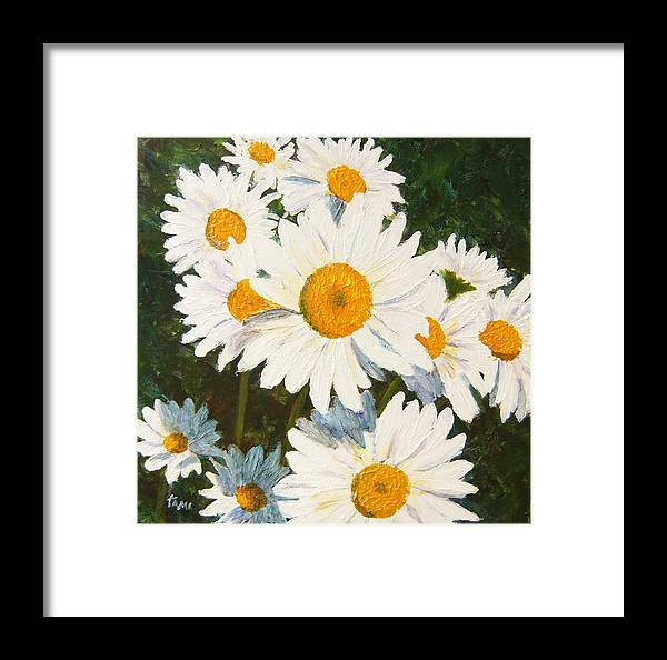 Daisy Framed Print featuring the painting Daisy by Tami Booher