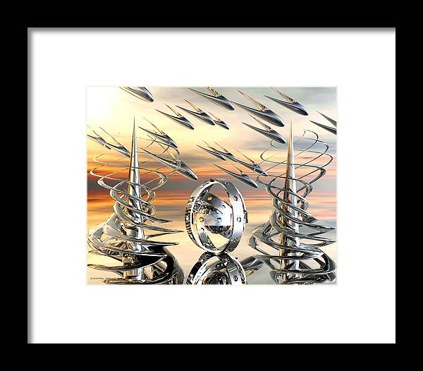 Abstract Framed Print featuring the painting Dakian by Dreamlight Creations