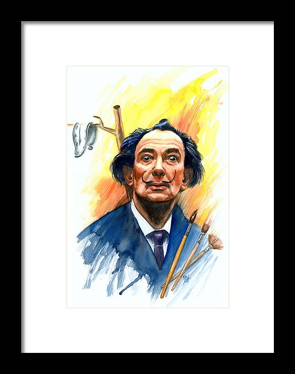 Salvador Dali Framed Print featuring the painting Dali by Ken Meyer
