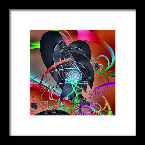 Dail-scape Framed Print featuring the digital art Dali-scape by Scott Bricker