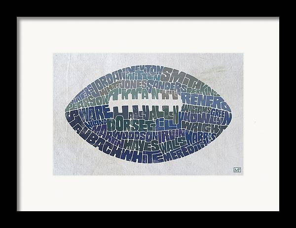 Dallas Framed Print featuring the painting Dallas Cowboy Football by Mitch Frey