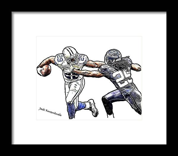 Dallas Cowboys Demarco Murray - Seattle Seahawks Richard Sherman ...